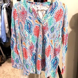 Lilly Pulitzer printed v-neck sweater